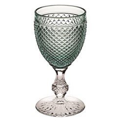 Bicos Bicolor Goblet, H17cm - 28cl, green with clear steam