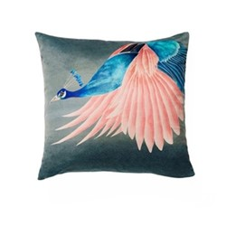 Peacock Cushion, 45 x 45cm, multi