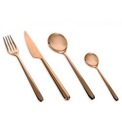 Linea 24 piece cutlery set, copper