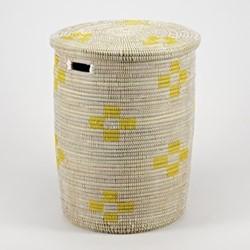 La Brise Large laundry basket with flat lid, 53 x 38cm, dawn