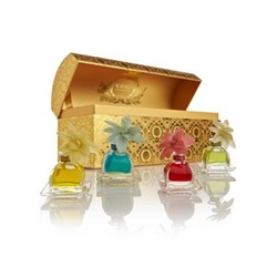 Petite AirEssence Set of 4 single flower diffusers, 50ml, Santa Barbara collection
