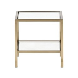 Keswick Square coffee table, L40 x D40 x H40cm, brass