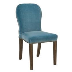Stafford Chair, L45 x W59 x H92cm, air force blue velvet