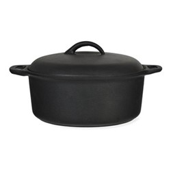 Cast Iron Casserole pot, 24cm, black