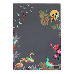 Swans Tea towel, 44 x 65cm, brown