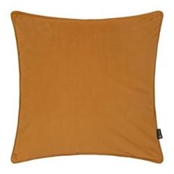 Velvet cushion, W45 x L45cm, mustard
