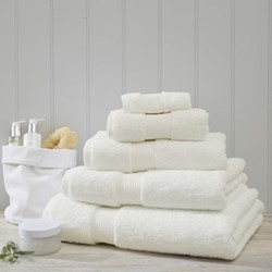 Egyptian Cotton Hand towel, 50 x 90cm, ivory