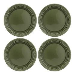 Botanic Garden Harmony Set of 4 plates, 27cm, green