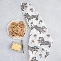 Dog & Daisy Tea Towel, 50 x 70cm
