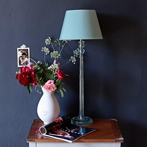 Luty Table lamp - base only, H63 x W16cm, aquamarine polished resin