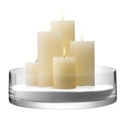Column Bowl/candleholder, 35cm, clear