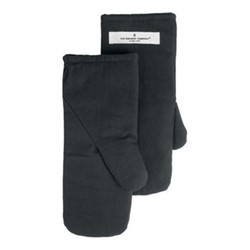 Canvas Medium oven mitts, 14 x 31cm, dark grey