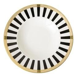 Satori Black Pasta plate, 27cm, black/white/gold