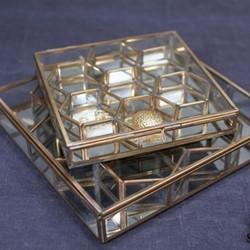 Bequai Small honeycomb box, 3.5 x 20 x 21cm, antique brass