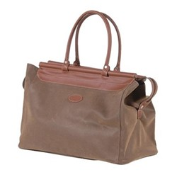 Bag with bar top, 35 x 26 x 50cm, brown