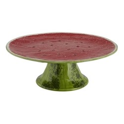 Watermelon Cake stand, 21.5 x 9cm, red/green