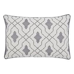 Dhaka Cushion, 60 x 40cm, charcoal
