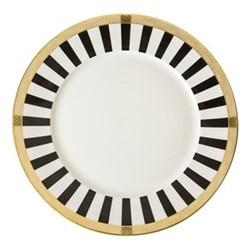 Satori Black Plate, 27cm, black/white/gold