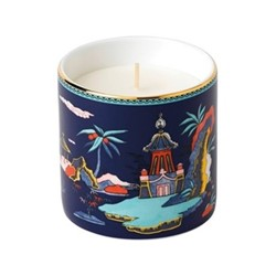 Wonderlust - Pagoda Scented candle, H8.5 x D8.5cm, blue