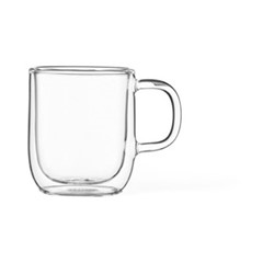 Classic Set of 4 double walled mugs, 10cl, clear