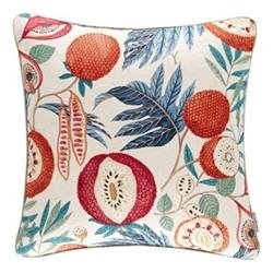 Glasshouse - Jack Fruit Cushion, 50 x 50cm, indigo/rambutan