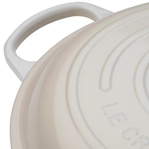 Signature Cast Iron Shallow casserole, 30cm - 3.2 litre, meringue