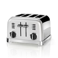 Style Collection CPT180SU 4 Slice toaster, frosted pearl silver