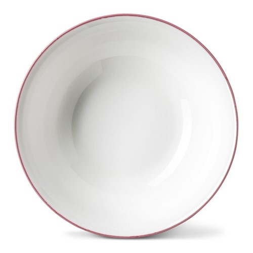 Rainbow Collection Cereal bowl, Dia16 x H5.5cm, rose pink rim