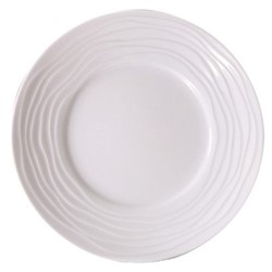 Onde White Set of 6 dessert plates, 21.5cm