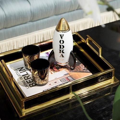Rocket - Vodka Decanter, H25.4cm, white/black/gold