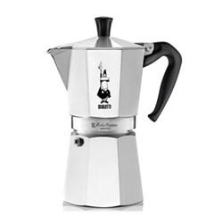 Moka Express Aluminium stovetop coffee maker, 9 cup, silver