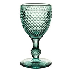 Bicos Set of 4 white wine glasses, H13cm - 14cl, mint green