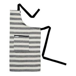 Fastnet Stripe Apron, 80 x 82cm, black