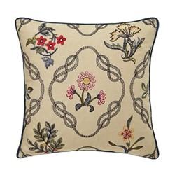 Strawberry Thief Cushion, L40 x W40 x H10cm, indigo