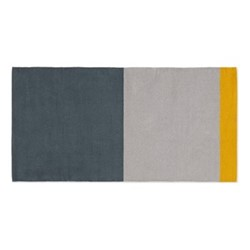 Colourblock Bath mat, 50 x 110cm, grey & mustard