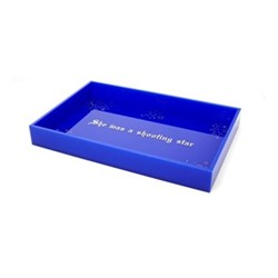 She Was a Shooting Star Small acrylic tray, W26 x D17.14cm, navy