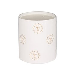 Sun Large candle, H18 x D15cm, white and gold