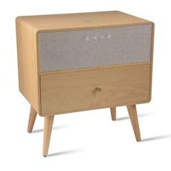 Ralph Smart side table, H50 x W48 x D32cm, Beige/ Natural