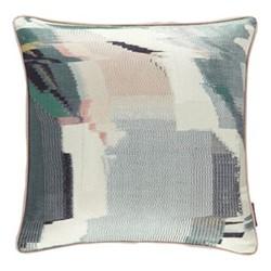 Momentum 10 Perspective Cushion, L50 x W50cm, emerald/peony