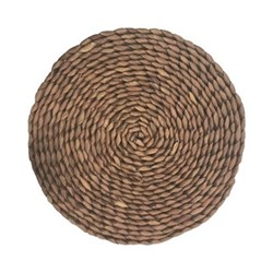Naturals Pair of round placmats, 30cm, brown