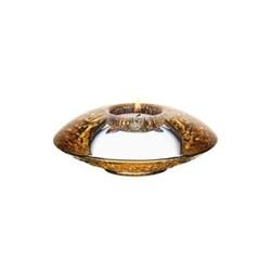 Discus Gold votive, H4.5 x W14cm, glass