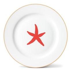 Starfish Side plate, Dia21cm, gold rim