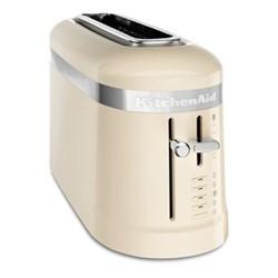 Design 2-slice long slot toaster, almond cream