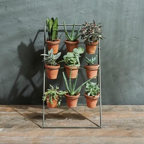 Jara Planter stand, 65 x 40 x 45cm, terracotta & iron