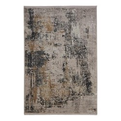Parisa Rug, 160 x 230cm, charcoal & rusted yellow