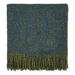 Goosegrass Throw, 130 x 170cm, blue