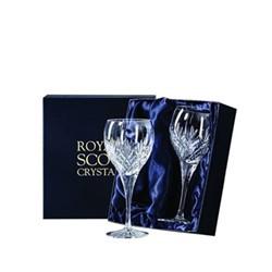 Edinburgh Pair of large wine glasses, 180mm, clear