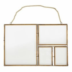 Kiko Large multi frame, H39 x W27cm, antique brass