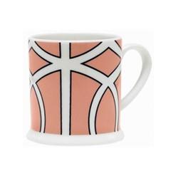 Loop Espresso cup, 6.6 x 6.1cm, coral/white