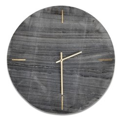 Besa Marble clock, Dia41cm, grey